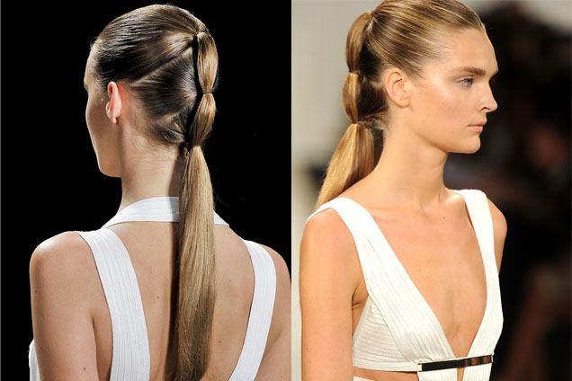 Segmented Ponytail Hairstyle For Women