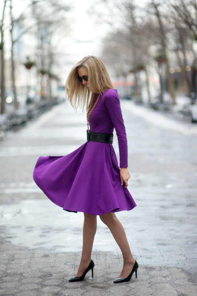 violet outfit Gorgeous Colors You Need to Add to Your Closet Right Now