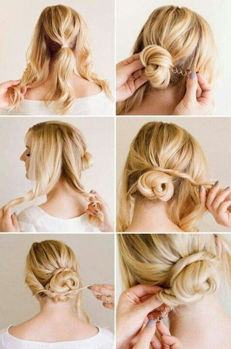 Easy Twisted Low Bun for Wedding Hairstyles