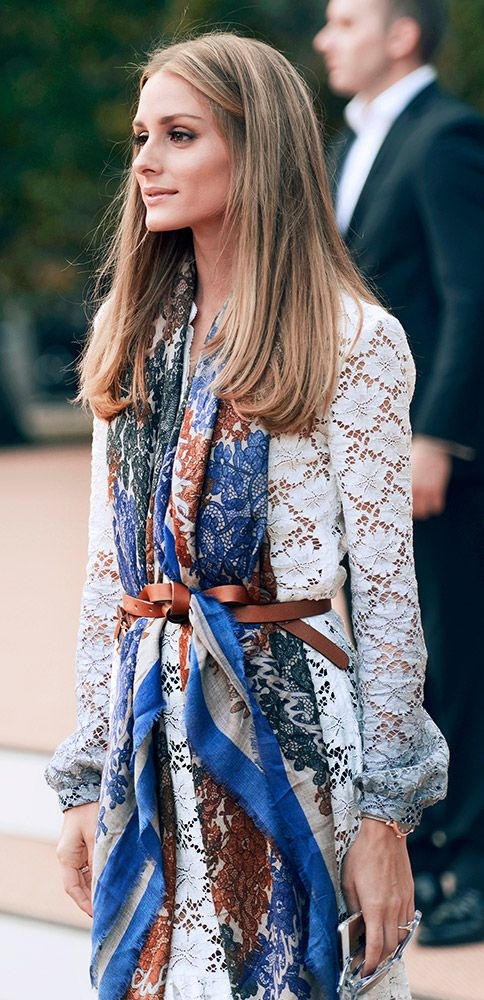 double print How to Style a Scarf for Spring