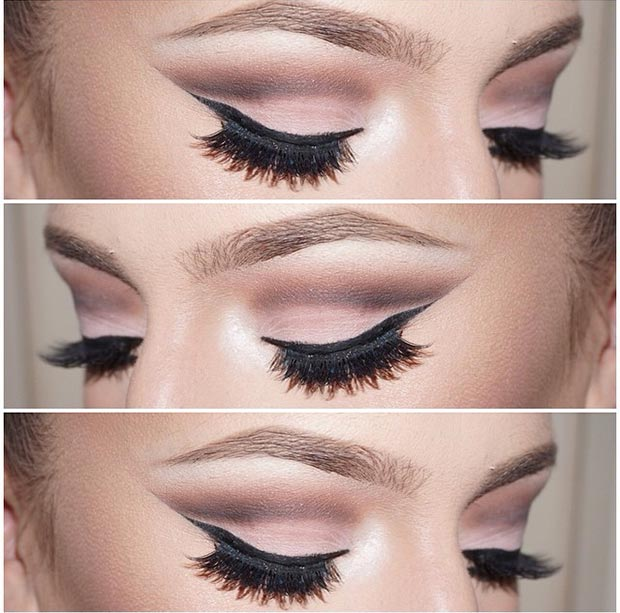 Brown Matte Eye Makeup Look