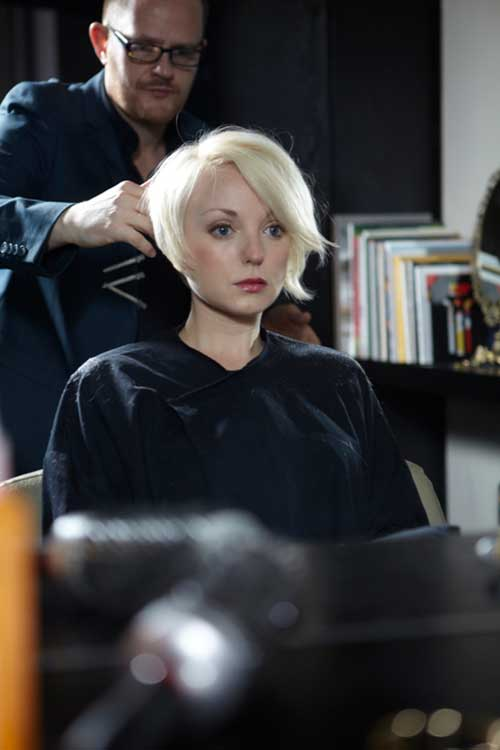 Helen George Asymmetrical Haircuts