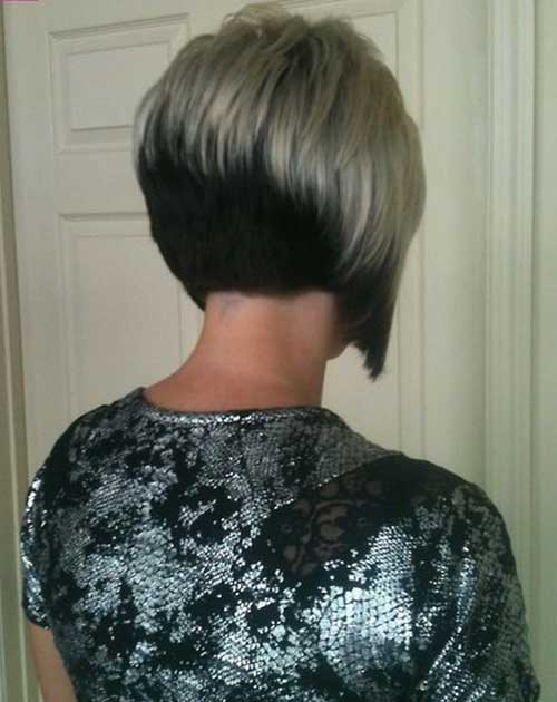 Two Colored Inverted Bob Back View