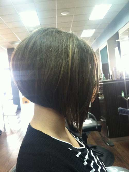 Dark Long Inverted Bob Hairstyles 2015