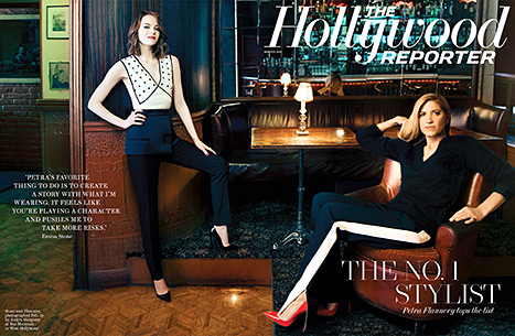 Emma Stone's stylist Petra Flannery top The Hollywood Reporter's Power Stylist list for 2015.