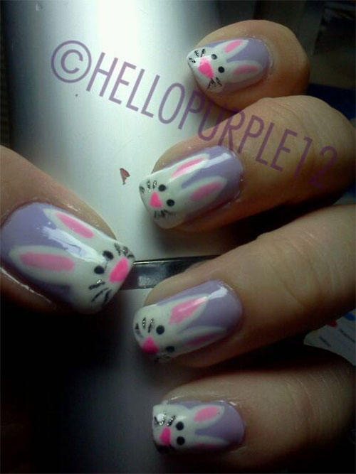 20 Easter Bunny Nail Art Designs Ideas Trends Stickers 2015 15 20 Easter Bunny Nail Art Designs, Ideas, Trends & Stickers 2015