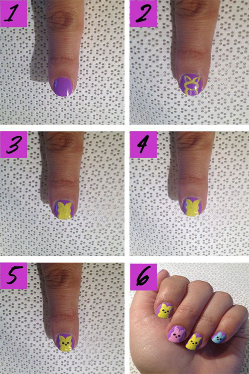 10 Step By Step Easter Nail Art Tutorials For Beginners Learners 2015 7 10 Step By Step Easter Nail Art Tutorials For Beginners & Learners 2015