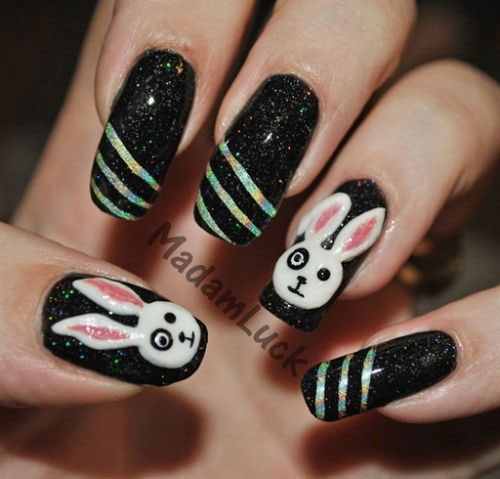 20 Easter Bunny Nail Art Designs Ideas Trends Stickers 2015 5 20 Easter Bunny Nail Art Designs, Ideas, Trends & Stickers 2015