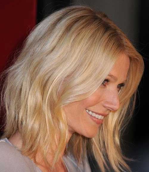 Casual Blonde Medium Length Hairstyle 2015