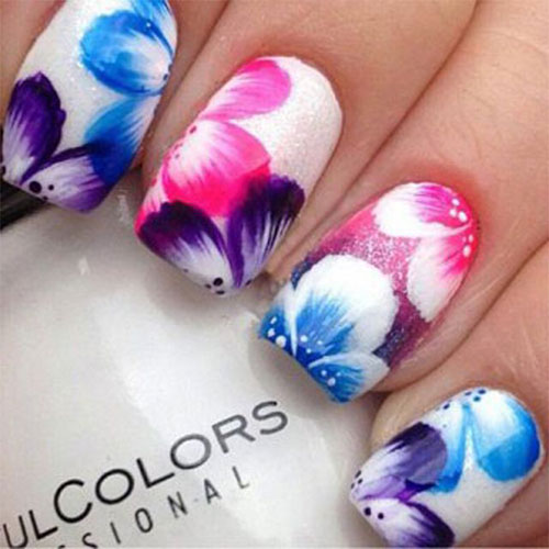 15 Spring Flower Nail Art Designs Ideas Trends Stickers 2015 2 15+ Spring Flower Nail Art Designs, Ideas, Trends & Stickers 2015