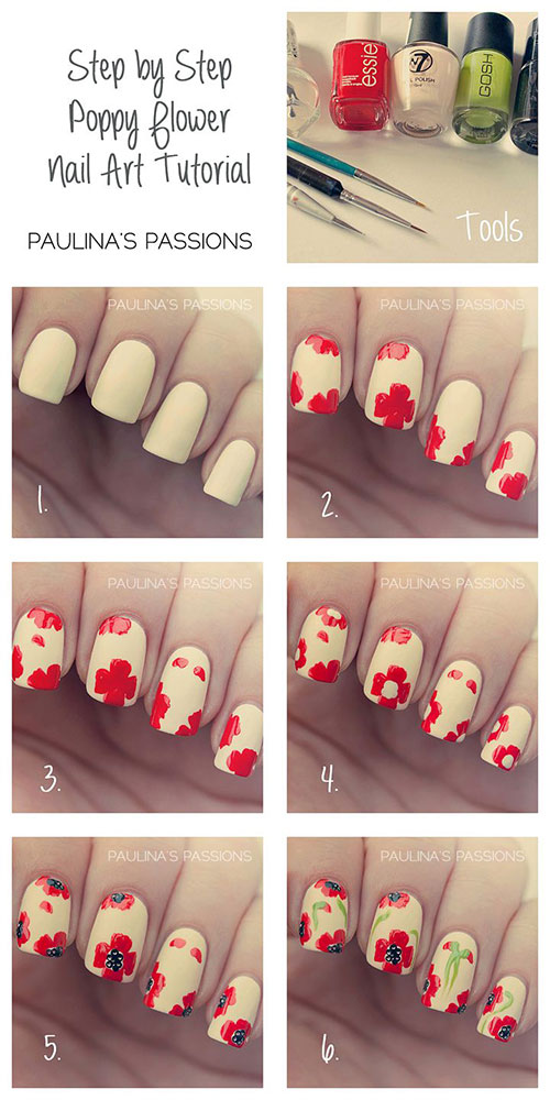 Easy Step By Step Spring Nail Art Tutorials For Beginners Learners 2015 1 Easy Step By Step Spring Nail Art Tutorials For Beginners & Learners 2015