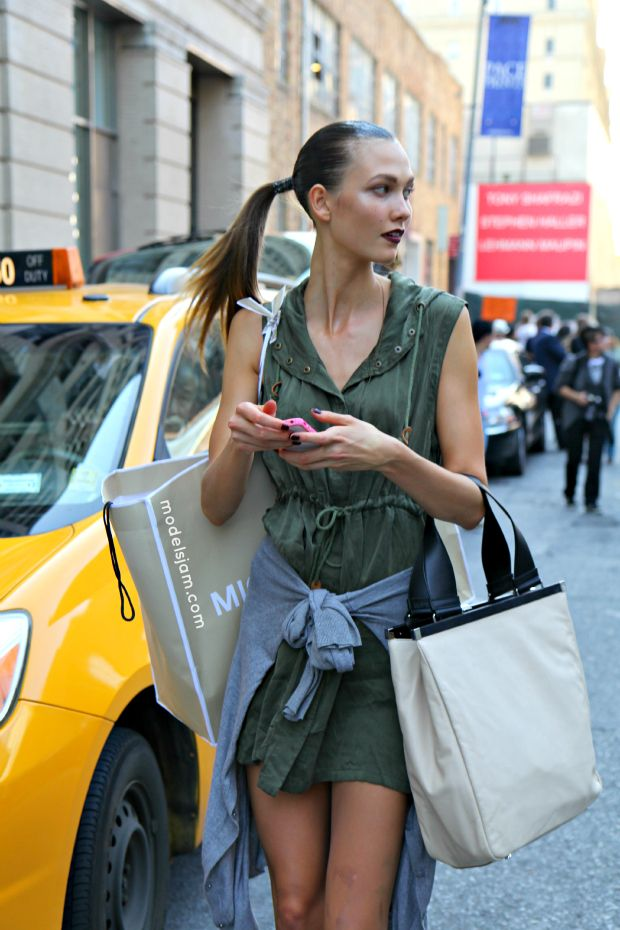 off duty look The Best Street Style Outfits from Karlie Kloss