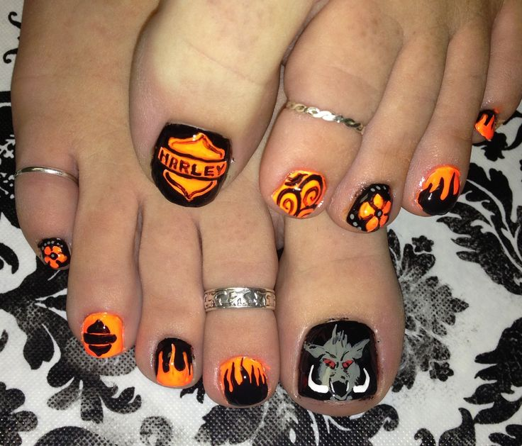 Harley Davidson for Toe Nail Designs