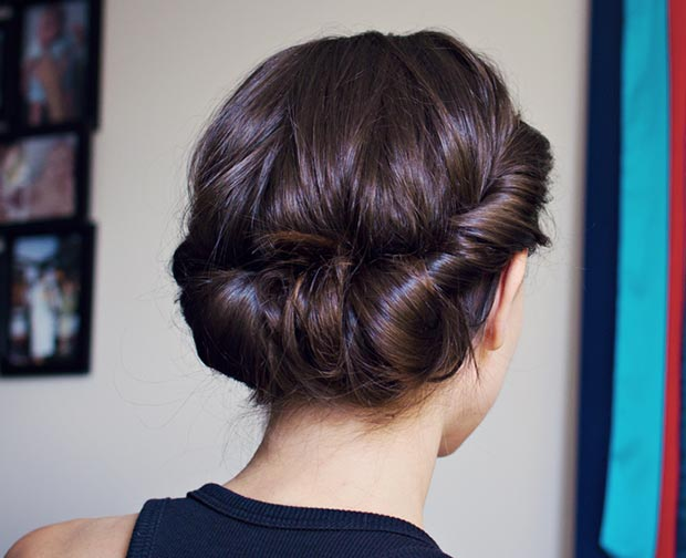 Easy Headband Updo for Long Hair