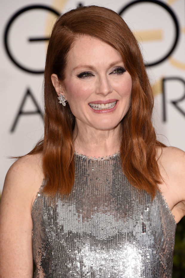 Julianne Moore at the 2015 Golden Globe Awards.