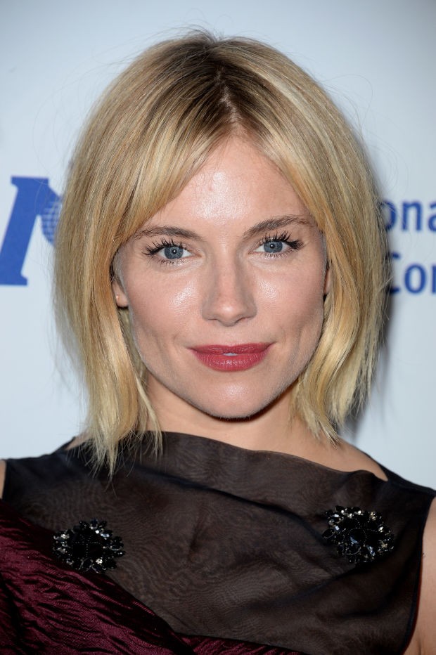 Sienna Miller at the 2014 International Medical Corps Awards dinner.