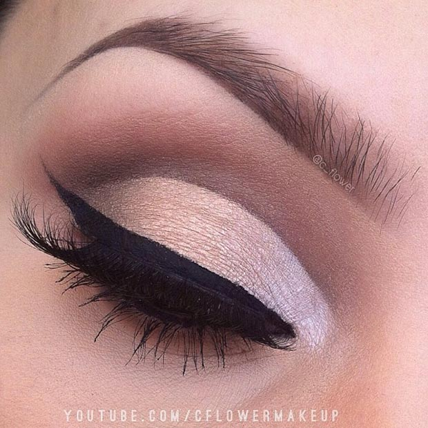 Brown Cut Crease Makeup Look