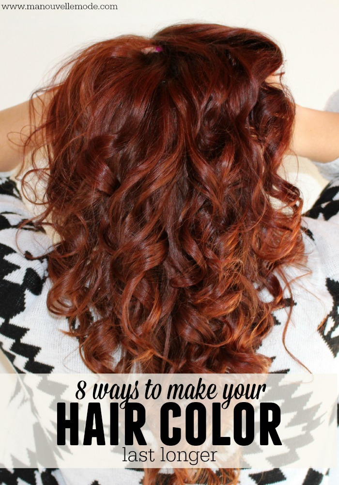 ways to make your hair color last longer