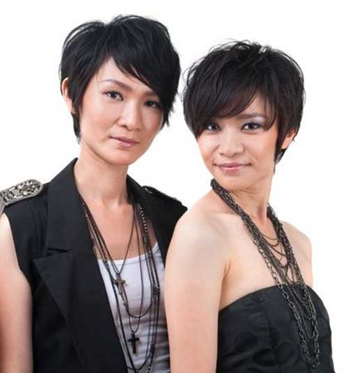 Asian New Pixie Haircuts for Girls