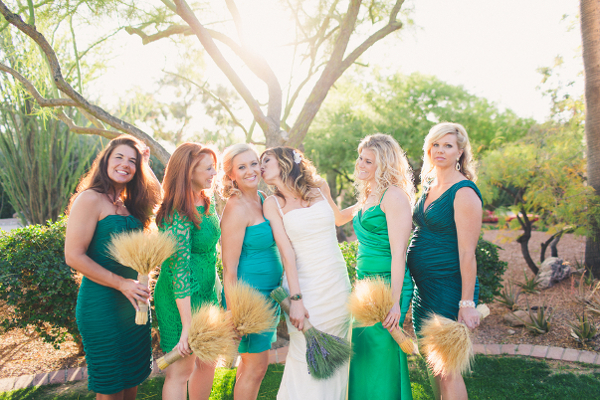 Mismatched Green Wedding Theme