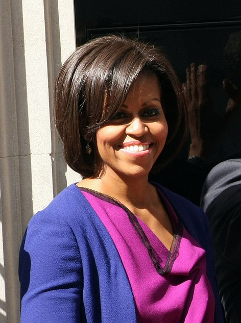 Michelle Obama Short Hairstyle bob - Hairstyle for Thick Hair