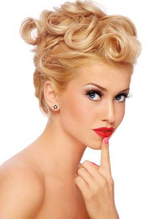 Short Modern Haircuts with Pin Up Look