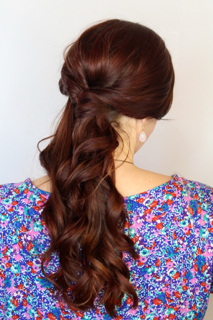 twisted cute ponytail
