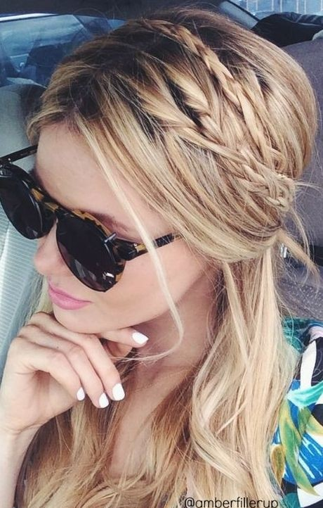 Cute Ponytail with Braids for Long Hair
