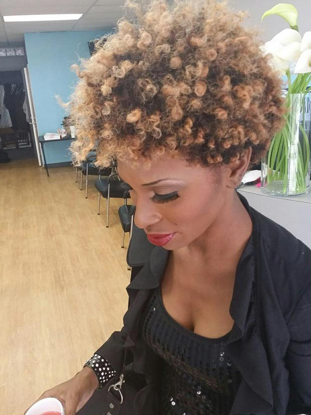 Short Natural Curly Hairstyle Black Women
