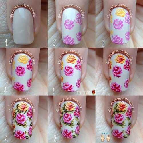 Easy Step By Step Spring Nail Art Tutorials For Beginners Learners 2015 8 Easy Step By Step Spring Nail Art Tutorials For Beginners & Learners 2015