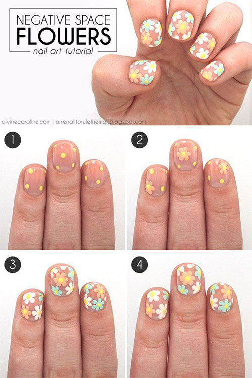 Easy Step By Step Spring Nail Art Tutorials For Beginners Learners 2015 5 Easy Step By Step Spring Nail Art Tutorials For Beginners & Learners 2015