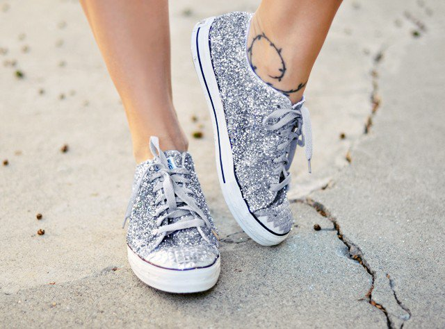 Sneakers with Glitter