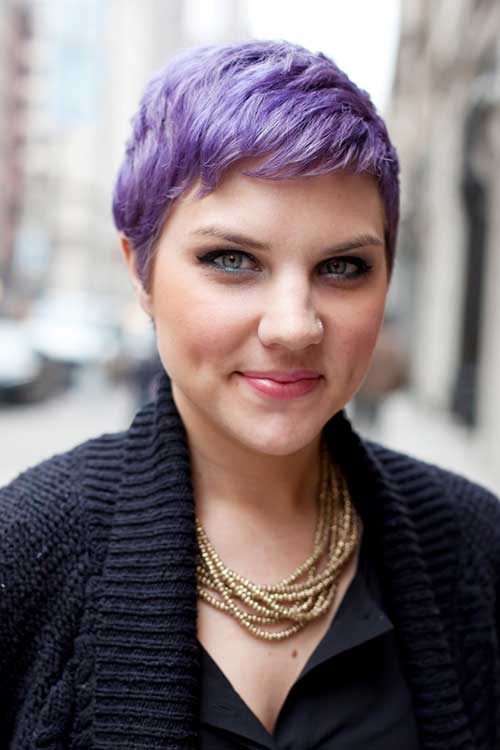 Short Purple Pixie Hair