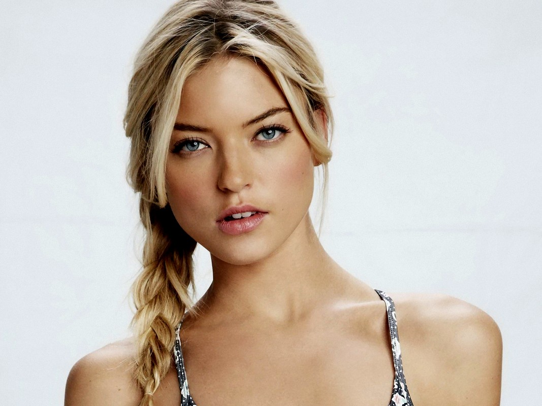 Martha Hunt Cute Braided Hairstyles 2015