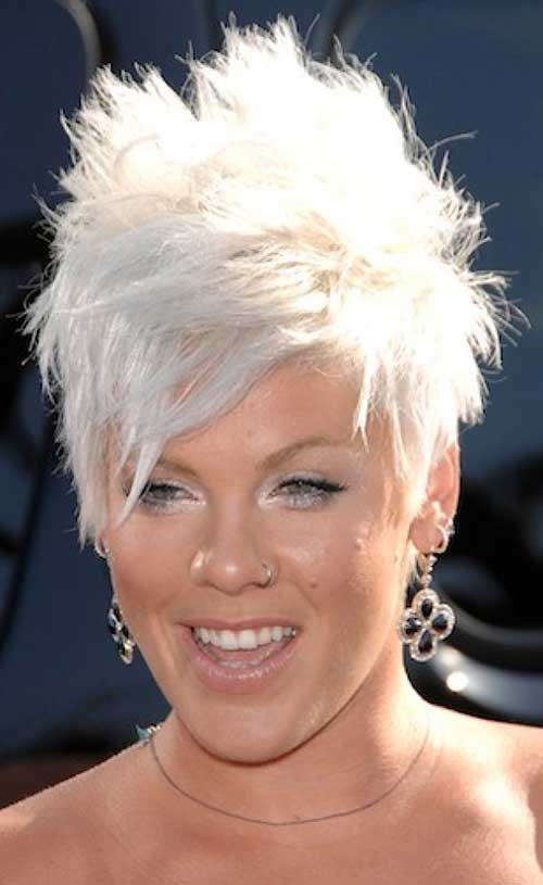 Pink's Short Spiky Hairstyles for Women