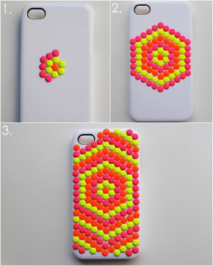Bright Colored Embellished Phone Case