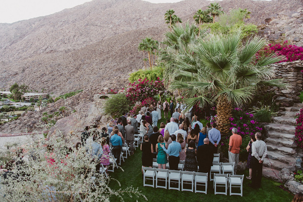 Palm Springs ceremonies - photo by eplove http://ruffledblog.com/modern-boho-wedding-in-palm-springs