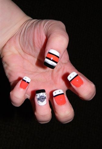 Great Harley Davidson Nail Design