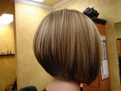 Chestnut Colored Inverted Bob Back View
