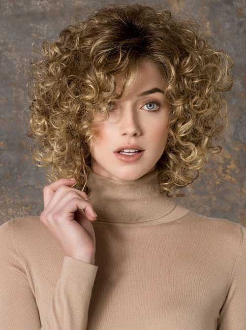 Natural Blonde Curly Hairstyle
