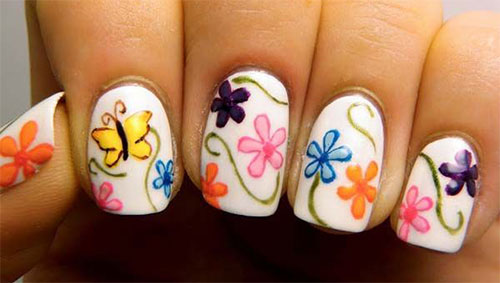 15 Spring Flower Nail Art Designs Ideas Trends Stickers 2015 16 15+ Spring Flower Nail Art Designs, Ideas, Trends & Stickers 2015
