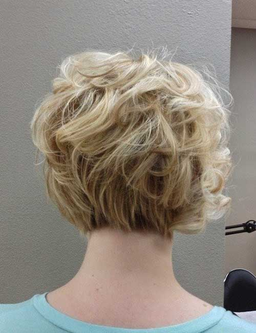 Curly Bob Fine Haircuts Back View