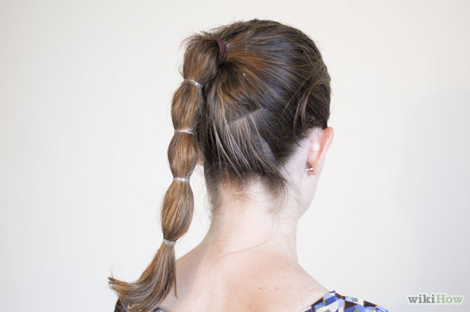Beautiful Segmented Ponytail Hairstyle Back