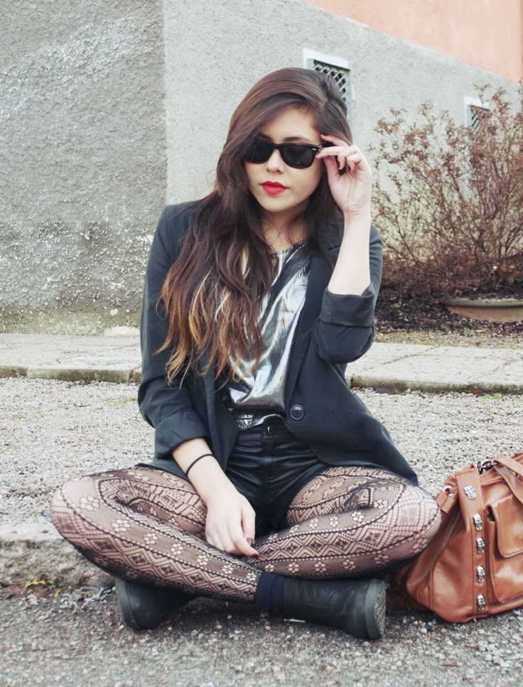 shorts and fashion tights