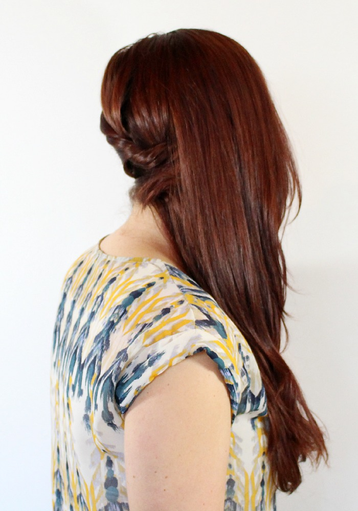 Big Side Swept style with bobby pins