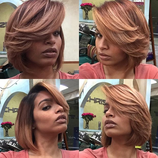 Ombre Bob with Blonde Highlights