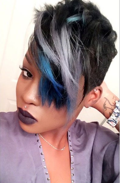 Short Hair with Colorful Highlights