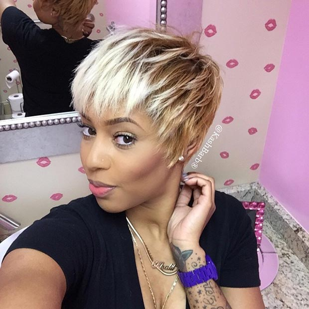 Messy Layered Pixie Cut for Black Women