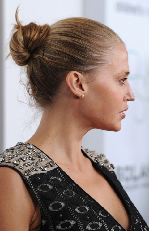 Simple Bun Updo Hairstyles