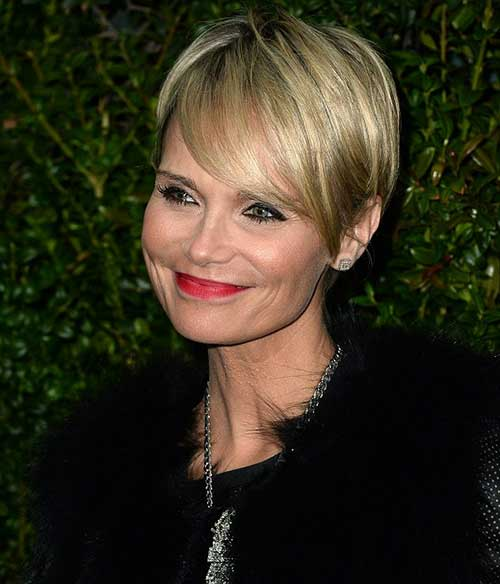 Kristen Chenoweth Pixie with Long Bangs